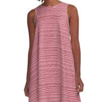 Peony Wood Grain Texture A-Line Dress