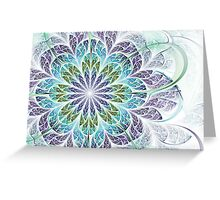 Flower - Abstract Fractal Artwork Greeting Card