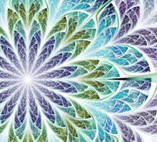 Flower - Abstract Fractal Artwork Sticker
