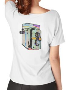 Water Colour Vintage Camera Women's Relaxed Fit T-Shirt