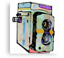 Water Colour Vintage Camera Canvas Print