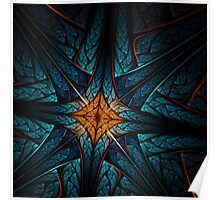 Cross - Abstract Fractal Artwork Poster