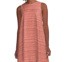 Desert Flower Wood Grain Texture A-Line Dress