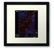 USGS TOPO Map Alaska AK Craig D-1 355312 2000 63360 Inverted Framed Print