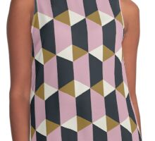 Geometric pattern with hexagons Contrast Tank