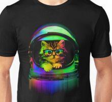 Cool kitten on the helmet Unisex T-Shirt