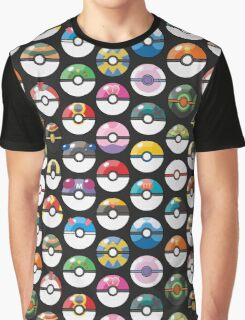 Pokemon Pokeball Black Graphic T-Shirt