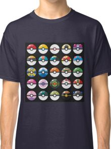 Pokemon Pokeball Black Classic T-Shirt
