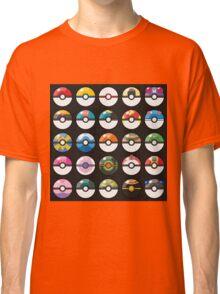 Pokemon Pokeball Black Classic T-Shirt