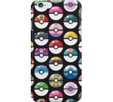 Pokemon Pokeball Black iPhone Case/Skin
