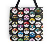 Pokemon Pokeball Black Tote Bag