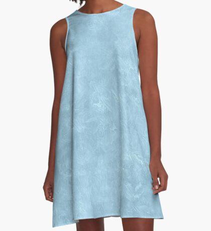 Aquamarine Oil Pastel Color Accent A-Line Dress