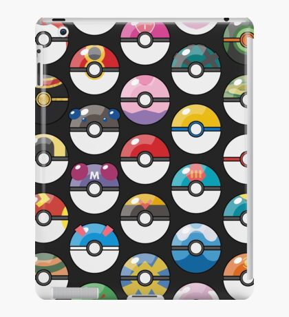 Pokemon Pokeball Black iPad Case/Skin