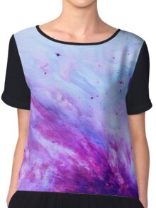 PURPLE GALAXY Chiffon Top