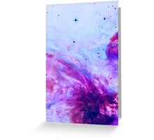 PURPLE GALAXY Greeting Card