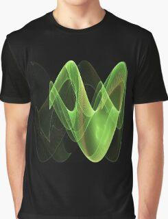 Green Swirl - Abstract Fractal Artwork Graphic T-Shirt
