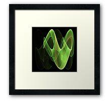 Green Swirl - Abstract Fractal Artwork Framed Print