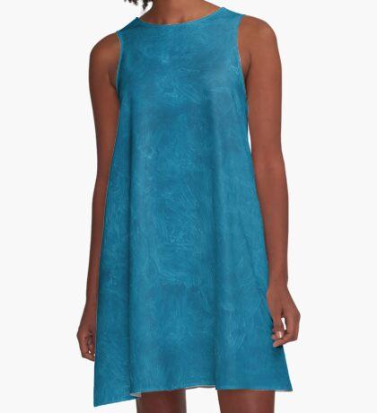 Seaport Oil Pastel Color Accent A-Line Dress