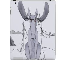 Angry Moose Stuck In A Clothesline iPad Case/Skin