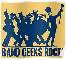 BAND GEEKS ROCK Poster