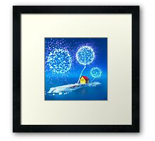 The blue island. Framed Print