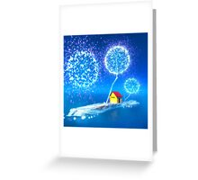 The blue island. Greeting Card