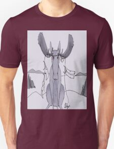 Angry Moose Stuck In A Clothesline Unisex T-Shirt