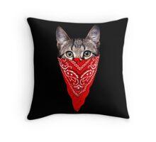 Gangster Cat Throw Pillow