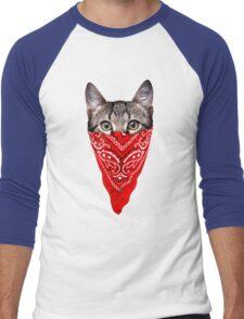Gangster Cat Men's Baseball ¾ T-Shirt