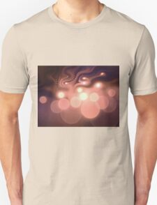 Swirly Bokeh - Abstract Fractal Artwork Unisex T-Shirt