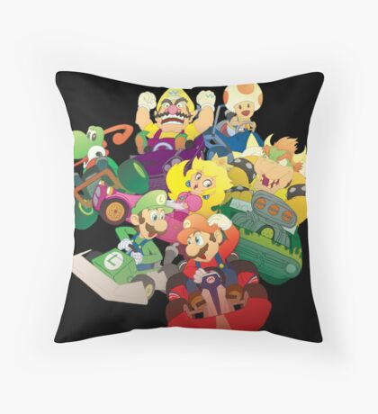 Kart Racers Throw Pillow