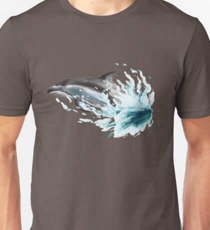Pacific White-sided Dolphin Splash Unisex T-Shirt