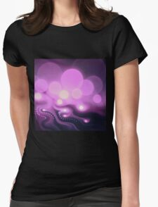 Purple Bokeh - Abstract Fractal Artwork Womens Fitted T-Shirt