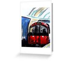 London Underground Piccadilly Line Tube Station Contemporary Acrylic Painting Greeting Card