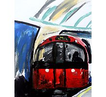 London Underground Piccadilly Line Tube Station Contemporary Acrylic Painting Photographic Print
