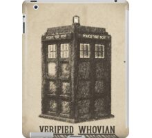 Doctor Who - Verified Whovian iPad Case/Skin
