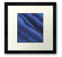 BLUE SHADES Framed Print