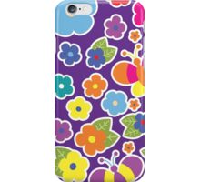 Flowers & Butterflies iPhone Case/Skin