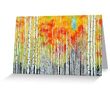 Autumn Aspen Trees Quaking Colorado Colorful Forest Greeting Card