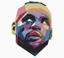 King LeBron ART Baby Tee