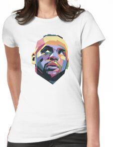 King LeBron ART Womens Fitted T-Shirt