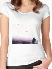 Color Negative Of Dallas And Orbs Women's Fitted Scoop T-Shirt