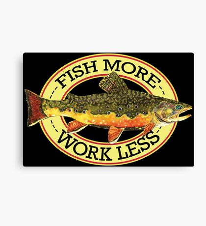 Humorous Fishing Canvas Print