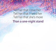 she's more than a one-night stand by nathalieissad