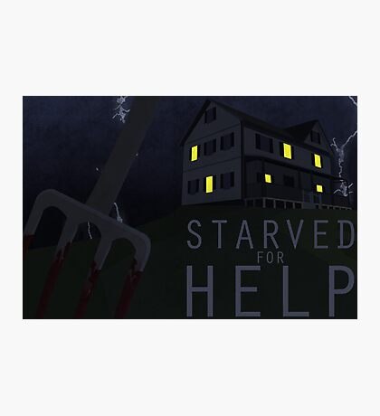 Starved For Help Photographic Print
