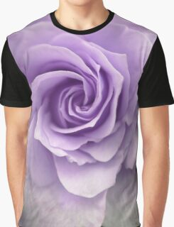 Purple Rose Photograph Graphic T-Shirt