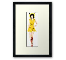 Pokemon Pikachu inspired model Framed Print
