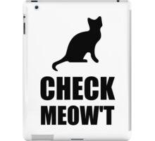 Check Meow Cat iPad Case/Skin