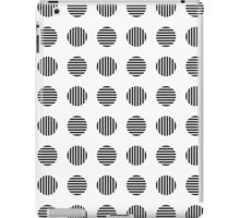 Modern stylish geometric pattern with striped circles in black and white iPad Case/Skin