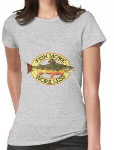 Humorous Fishing Womens Fitted T-Shirt